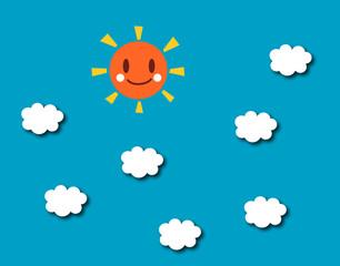雲 太陽 青空