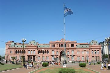 Casa Rosada in Plaza de Mayo a Buenos Aires