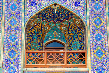 Tiled balcony, ,Seyed Alaedin Hossein Shrine, Iran