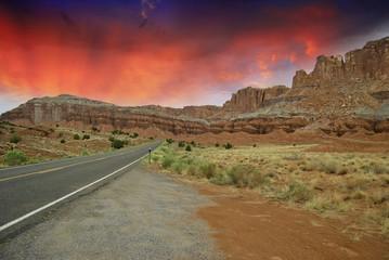 Fototapete - Inside Monument Valley