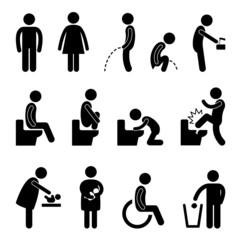 Toilet Bathroom Pregnant Handicap Public Sign