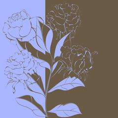 Contrast floral background