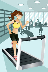 Woman exercise in gym