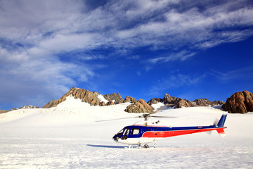 helicopter Mount cook New Zealand