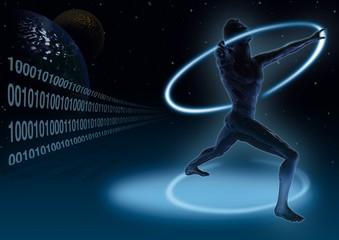 Millennium - Futuristic Background, Bitmap Illustration