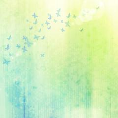 Staande foto Vlinders in Grunge grunge background with butterflies