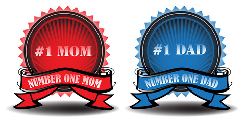 Mom and dad badges