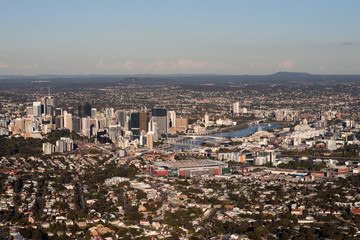 Brisbane and suburbs Aerial View