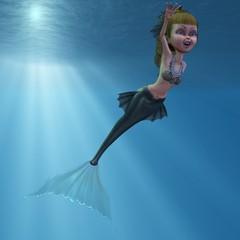 Photo sur Aluminium Mermaid Meerjungfrau
