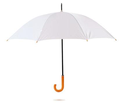 White umbrella. Isolated