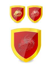 dragon symbols set