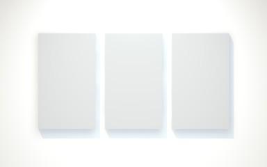 Drei Wandbilder Beleuchtet
