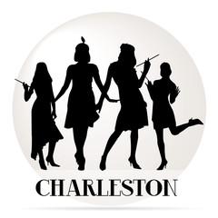 Fototapeta premium ikona tancerzy charleston
