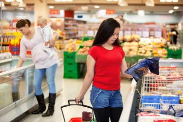 Women in shopping store shopping