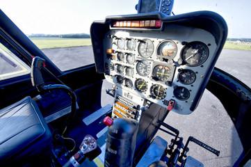 intérieur d'un hélicoptère