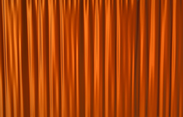 Red theater curtain background. 3D render.