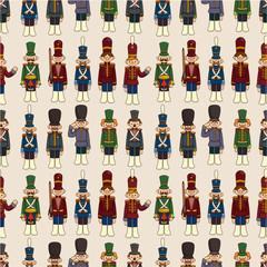 cartoon Toy soldier seamless pattern