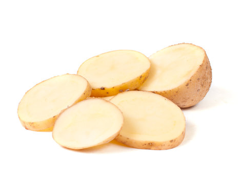 Sliced yellow potatoes