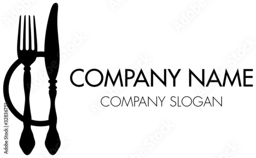 "abstract company logo fork, knife & plate"" stock image and royalty"