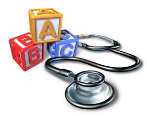 Pediatrics and pediatrician medical symbol