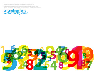 Abstract numbers on isolated background