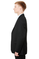 Side portrait of businessman