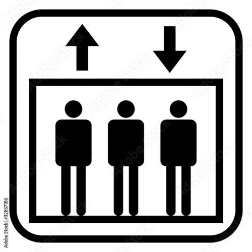picto ascenseur photo libre de droits sur la banque d 39 images image 32867186. Black Bedroom Furniture Sets. Home Design Ideas
