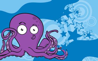 octopus cartoon background