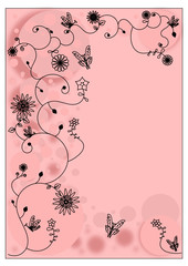 Simple floral background pink
