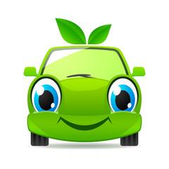 In de dag Cartoon cars Eco friendly car