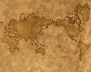 古地図風世界地図