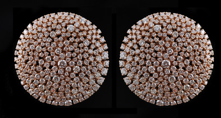 Poster - diamond earings with reflection
