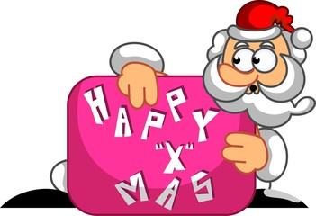 Santa clause Christmas surprise box