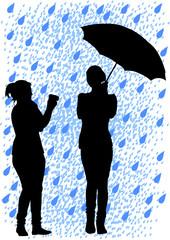 Umbrella and camera