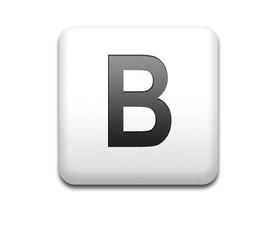 Boton cuadrado blanco letra B