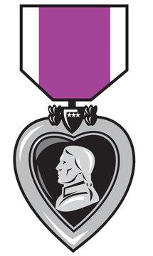 purple heart military medal of bravery valor