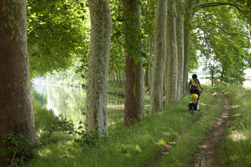 cyclo randaonnée sur les berges du canal du midi