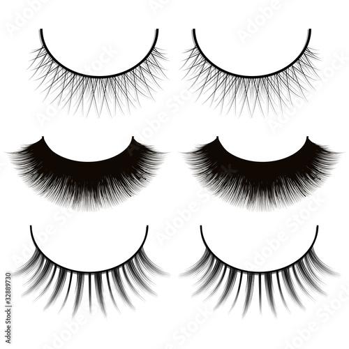 """set of eyelashes isolated on white background"""" stock image and"""