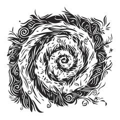 spiral abstract design