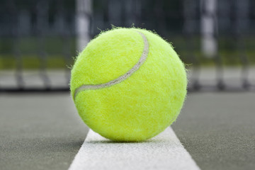 A yellow tennis ball
