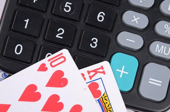 calculator and poker
