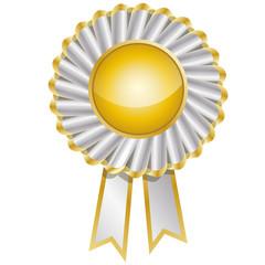 vecteur, médaille doré