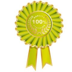 médaille doré, qualité certifiée