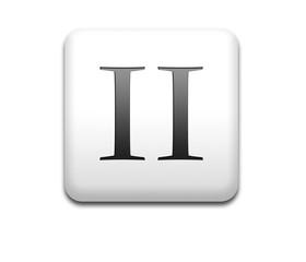 Boton cuadrado blanco numero romano 2