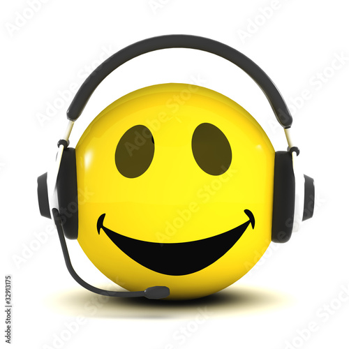 3d Smiley Phone Support Stock Photo And Royalty free