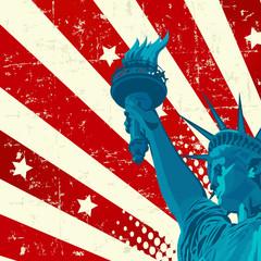 Printed kitchen splashbacks Fairytale World Statue of Liberty