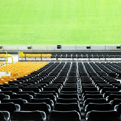 Tribüne im Stadion - quadratisch