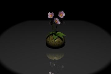 3D rendering di una pianta