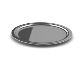 3d Silver platter