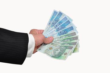 Banknoty w dłoni